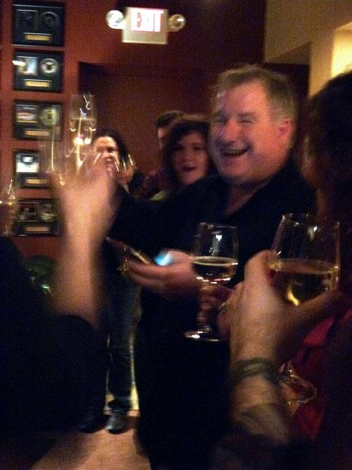 Happy New Year 2012 - Toast with Michael Crittenden, Drew Nelson, Glen Danles, Tara Cleveland, and Nicole Lucas Nelson